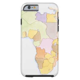 Illustration of African territories and states Tough iPhone 6 Case