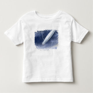 Illustration of airship being struck by lightning toddler T-Shirt
