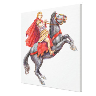 Illustration of Alexander the Great Canvas Print