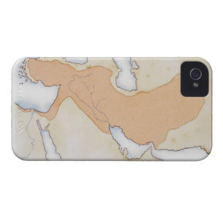 Illustration of Alexander The Great's Empire iPhone 4 Case