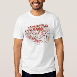 Illustration of American football team sitting Shirts