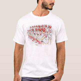 Illustration of American football team sitting T-Shirt