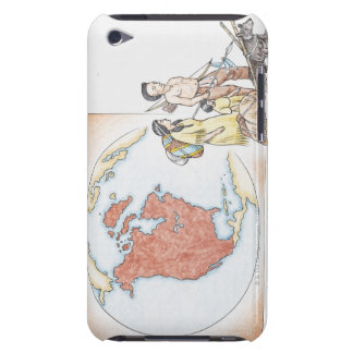 Illustration of American Indian family in front iPod Case-Mate Cases