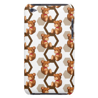 illustration of an array of teddy bear on white iPod Case-Mate cases