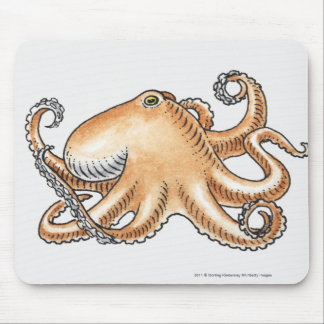 Illustration of an octopus mouse mat