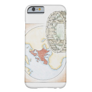 Illustration of ancient stone circle in front of barely there iPhone 6 case