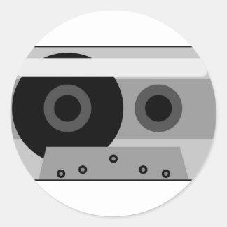 illustration of audio cassette sticker
