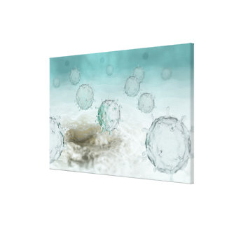 Illustration of avian flu cells canvas print