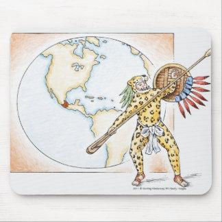 Illustration of Aztec Jaguar Warrior Mouse Mat