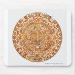 Illustration of Aztec sun stone Mouse Pad