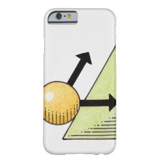 Illustration of ball moving down a slope, arrows barely there iPhone 6 case