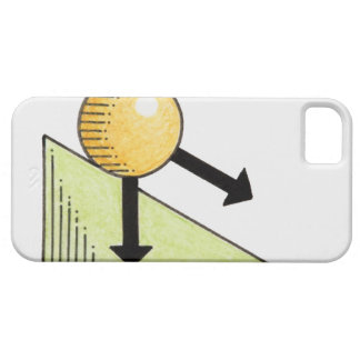 Illustration of ball moving down a slope, arrows case for the iPhone 5