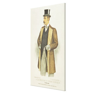 Illustration of British Costume, pub. by the John Canvas Print