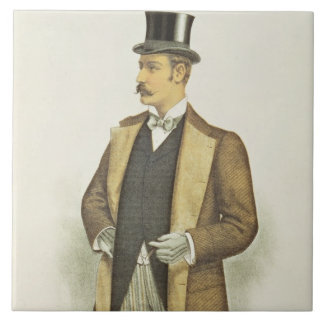 Illustration of British Costume, pub. by the John Large Square Tile