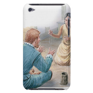 Illustration of Captain John Smith and iPod Touch Cases
