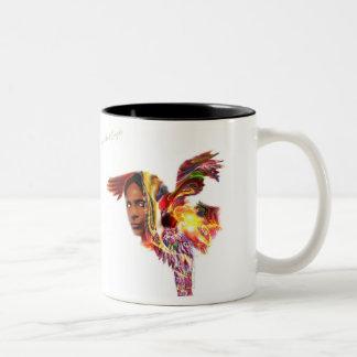 Illustration of Chief Red Eagle Two-Tone Coffee Mug