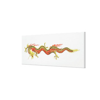 Illustration of Chinese dragon Canvas Print