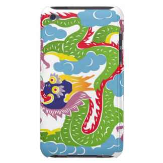 Illustration of Chinese dragon flying Barely There iPod Cover