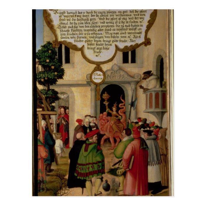 Illustration of Christ's teaching Postcard