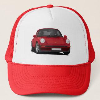 Illustration of classic German sports car 911, red Trucker Hat