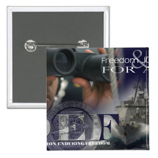 Illustration of crew members 15 cm square badge