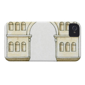 Illustration of early 4th century Arch of Janus iPhone 4 Case-Mate Cases