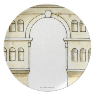 Illustration of early 4th century Arch of Janus Plate
