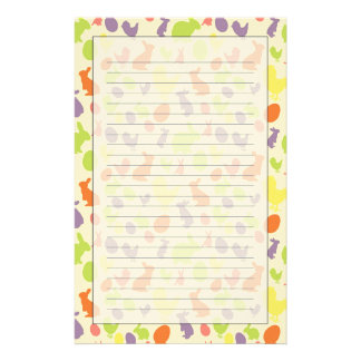 Illustration of Easter background Stationery Paper