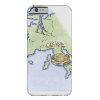 Illustration of Eiffel Tower in Paris and Barely There iPhone 6 Case