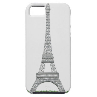 Illustration of Eiffel Tower in Paris, France. Case For The iPhone 5