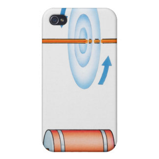 Illustration of electric current producing cover for iPhone 4