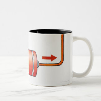 Illustration of electric current producing Two-Tone mug