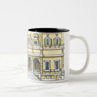 Illustration of facade of 17th century Galleria Two-Tone Mug