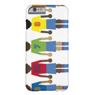 illustration of five football players, barely there iPhone 6 case