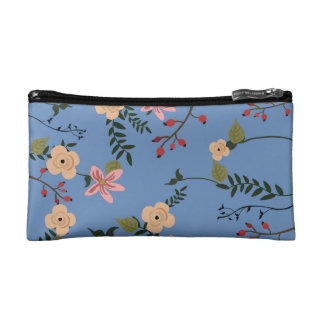 Illustration of floral patterns on cosmetic bag