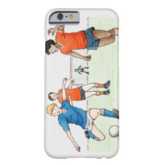Illustration of footballers playing barely there iPhone 6 case