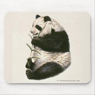 Illustration of Giant panda feeding on bamboo Mouse Pad