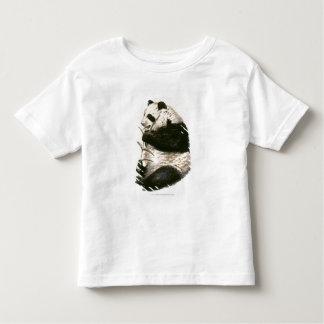 Illustration of Giant panda feeding on bamboo Toddler T-Shirt