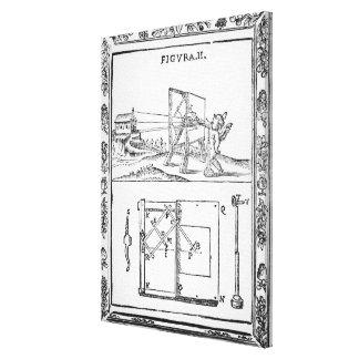 Illustration of Giulio Troili's idea Canvas Print