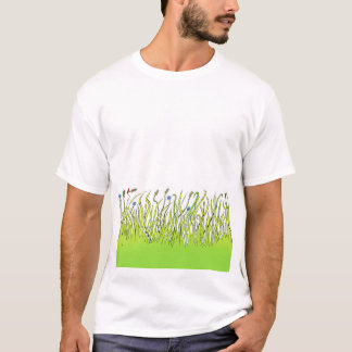 Illustration of grass on  a tshirt. T-Shirt