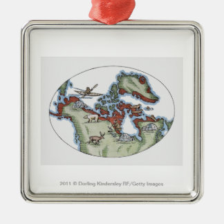 Illustration of Inuit territory Christmas Ornament