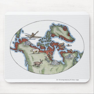 Illustration of Inuit territory Mouse Mat