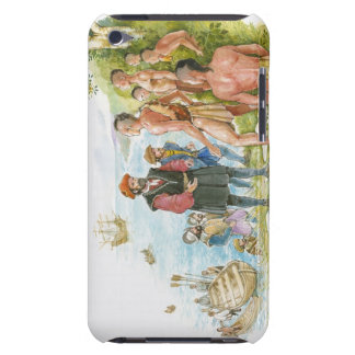 Illustration of Jacques Cartier conversing with Barely There iPod Cases