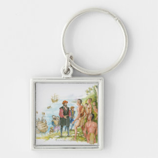 Illustration of Jacques Cartier conversing with Key Ring