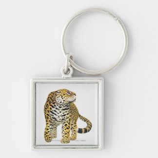 Illustration of Jaguar with head in profile Key Ring