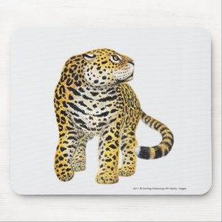 Illustration of Jaguar with head in profile Mouse Mat