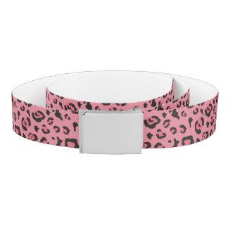 Illustration of Leopard Pink Animal Belt