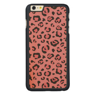 Illustration of Leopard Pink Animal Carved® Maple iPhone 6 Plus Case