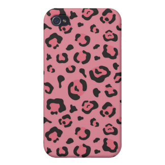 Illustration of Leopard Pink Animal Cases For iPhone 4