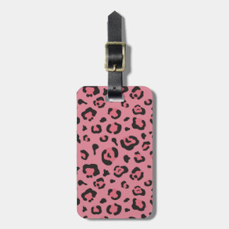 Illustration of Leopard Pink Animal Luggage Tag
